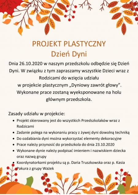 Projekt plastyczny DZIEŃ DYNI